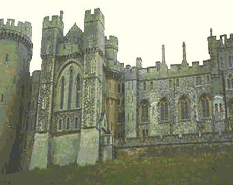 Arundel Castle Counted Cross Stitch Pattern - Digital Download