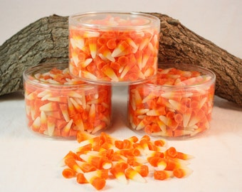 Halloween Candy Corn Tart Candles, Halloween Candle Melts, Fall Candle Tarts, Candy Corn Scented Candles, Wax Fake Food, 13 ounces