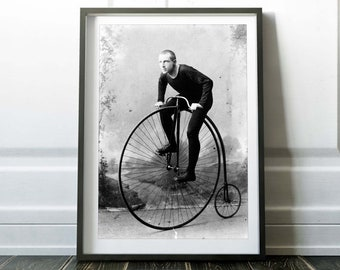 Bicycle Wall Art. Vintage Black And White Photo Print. Bicycle Art Print. Bicycle Print. Bicycle Poster. Vintage Bicycle Photo. GİCLEE Print