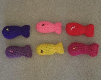 Cat Crochet Catnip Fish