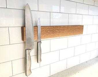 Porte couteau magn tique porte couteau ch ne bois - Porte couteau magnetique ...