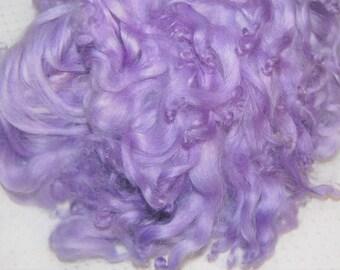 Karakul Sheep Wool Locks for Spinning Felting and Doll Hair, Doll Wig, Troll Hair, Hand Dyed Lilac 1 oz.