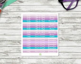 Planner Header Stickers Purple Passion