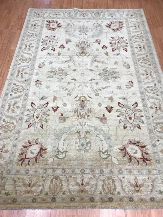 "6'1"" x 9'2"" New Pakistani Peshawar Oriental Rug - Hand Made - Veg Dye - 100% Wool"