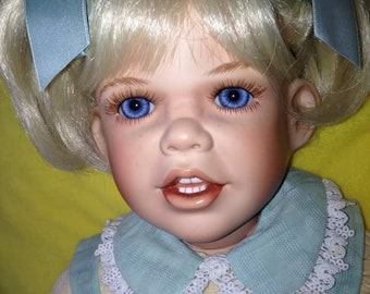 SALE- 24 inch Chrissie a porcelain collectible doll