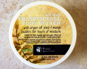 All Day Body Butter! Mood rejuvenating! Ylang Ylang, Lavender or Frankincense! Excellent Aromatherapy Butters for all day moisture & glow!