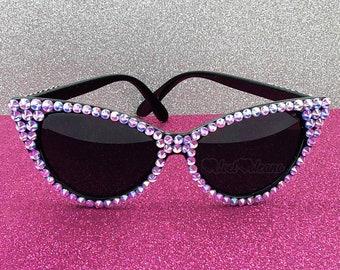 PIXIE DUST Cat Eye Sunglasses, Pastel Goth, Kawaii, Lilac Sunglasses, Vintage Sunglasses, 50s Sunglasses, Rockabilly Glasses, Purple Sunnies