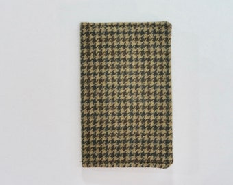 Green and Brown Vintage Wool Plaid Mini Wallet