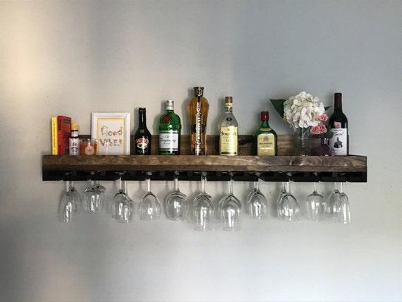 48 X LONG Rustic Wood Wine Rack Shelf U0026 Hanging