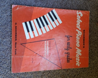 "Vintage piano book ""Select Piano Music"", 1959"