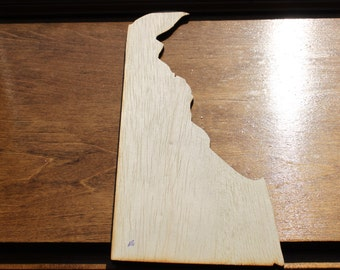 DE Delaware Wood Cutouts - Shapes for Projects or Other Use