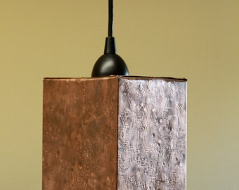 Copper pendant lights