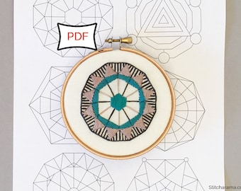 Sacred Geometry PDF Embroidery Patterns • PDF Download