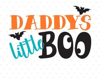Daddys Little Boo SVG file, Halloween SVG, Boys Halloween Shirt SVG design, Halloween Iron on file, Halloween Clipart