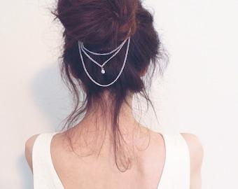Silver Rhinestone Crystal Bridal/Wedding Hair chain