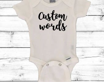 Custom Baby Onesie®, Personalized Onesie®, Baby Shower Gift, Baby Gift, Newborn Gift, Baby Boy, Baby Girl, Personalized Bodysuit, gift, new