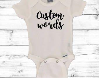 Personalized onesie etsy custom baby onesie personalized onesie baby shower gift baby gift negle Images