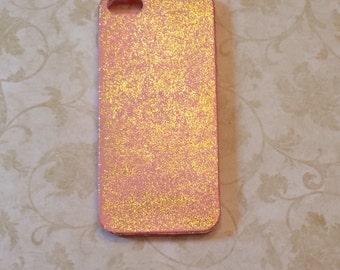 Pretty In Pink Gold Sparkles Phone Case