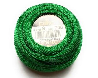 DMC 700 Perle Cotton Thread |Size 8 | Bright Green