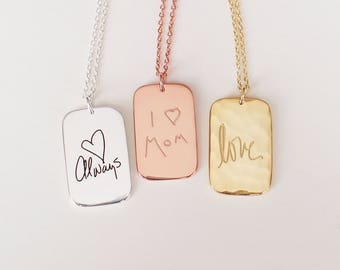 Mother's day Gift / Mom Necklace / Children's Drawing Necklace / Kids' Artwork Jewelry / Personalized Your Childs Artwork - HN14