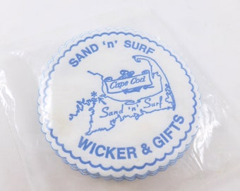 Cape Cod Coasters Paper with Wax Bottoms Sand 'n' Surf Wicker and Gifts Shop Vacation Souvenir