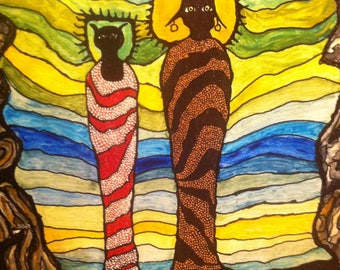 Mystic Art: The Arrival of 2 Anasazi Shamans