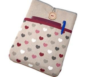 """Macbook 15 inch sleeve, 15 inch Macbook case, 15"""" macbook pro retina cover, macbook 15 sleeve, 14"""" Laptop sleeve, 15"""" laptop bag - hearts"""