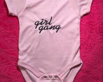 Feminist Baby Onesie Pink Onesie Girl Power Onesie Customoized Baby Onesie Girl Power Onesie Girl Gang Onesie Feminism Shirt