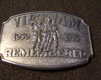 Vietnam Remembered 1959 to 1975 Buckle