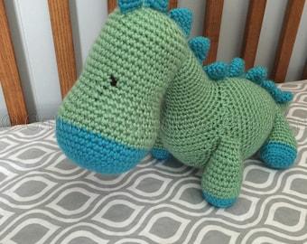 Crocheted Dinosaur ~ Dinosaur Toy ~ Stuffed Dinosaur
