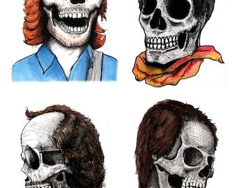 Phab Four: Phish skull  11x17 poster