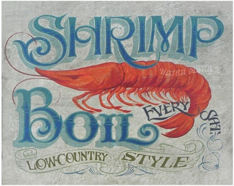 Shrimp  Boil Print