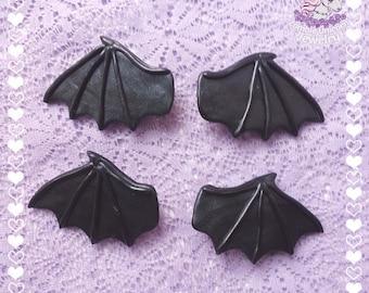 Bat wings hair clips gothic