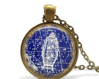 Lyra Constellation Lyra Jewelry Lyra Necklace Star Necklace Celestial Jewelry Astronomy jewelry Astronomy lover gift Lyra Keychain Lyra gift