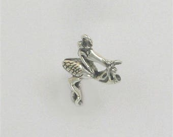 Sterling Silver 3-D Stork with a Baby Charm