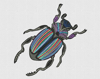Embroidery Design Scarab beetle For Instant Download