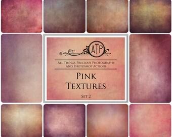 10 High Res Fine Art Digital PINK Overlays / Textures  Set 2