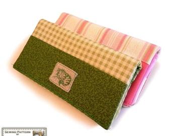 Wallet sewing pattern, Checkbook wallet, cell phone, long wallet, bi fold wallet  All-in-one sewing pattern --- PDF