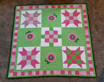 Sister's Choice Baby Girl Quilt - MADE TO ORDER
