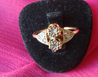 "Ring ""Art Déco"" gold and diamonds"