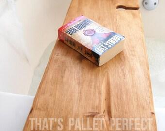Reclaimed Wood Bathtub Tray, Wine Glass Holder, Bathtub Caddy, Bath Tub Shelf, Bath Tub Caddy, Bath Tub Tray, Bathtub, Bubble Bath, Gift