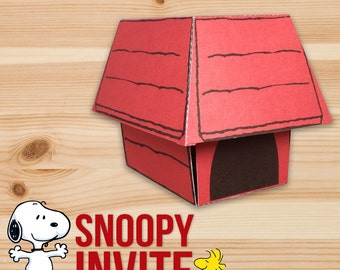 Snoopy Invitation - Exploding Box Custom Design by InkSpireVe -  WorldWide Free Shipping