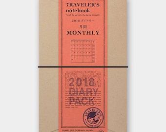 Pre-Order Traveler's Notebook 2018 Monthly (Regular Size)