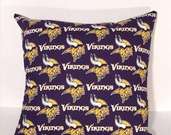 Minnesota Vikings Pillow Cover with solid back
