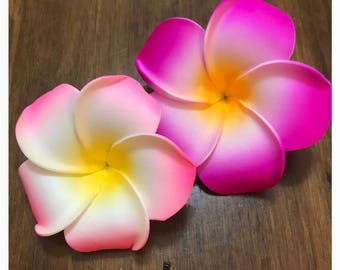 Quick ship - Hawaiian Plumeria Hair Flower Clip to match Moana Costume