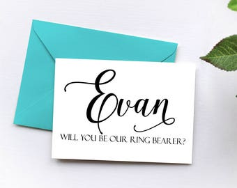 Ring Bearer Request Card, Will You Our Ring Bearer Card, Bridesmaid Proposal Maid of Honor, Bridesmaid Gift Flower Girl, Bridal Party Gift