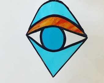 Third Eye, Blue Eye, Stained Glass Third Eye, Third Eye Suncatcher