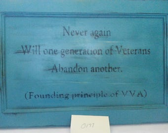 Vietnam Veterans quote