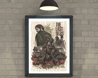 The Last Of Us minimal artwork Video Game Poster