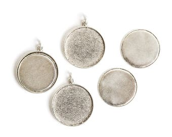 Jewelry Kit for Embroidery Grande Circle 3 Pack - Silver
